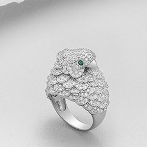 Jewelry - NEW 💯% 925 Sterling Silver Bird Cocktail Ring